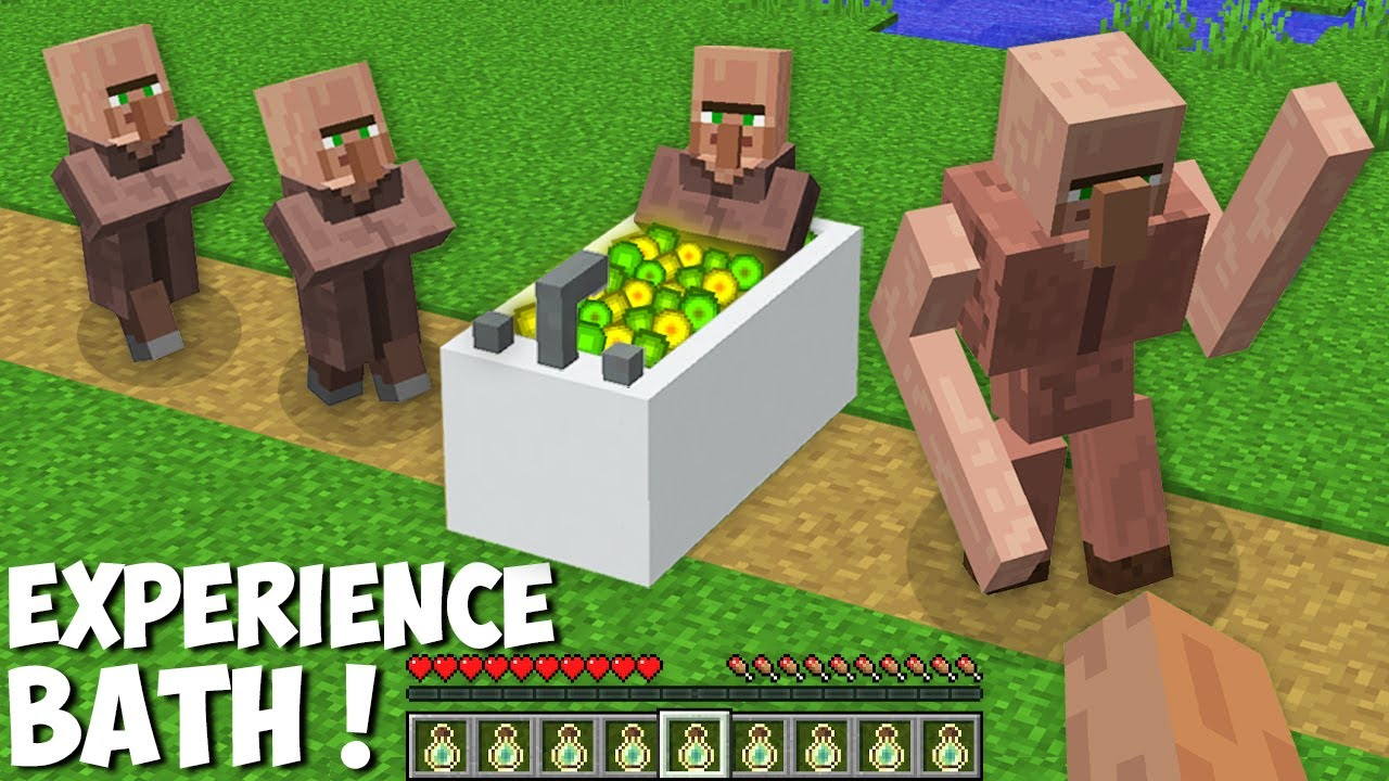 Download The VILLAGER USED XP BATH TO SUPER UPGRADE in Minecraft ! SECRET EXPERIENCE UPGRADE !