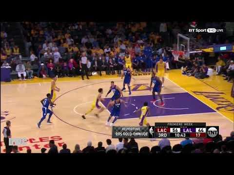 DeAndre Jordan Defense On Brook Lopez, October 19, 2017
