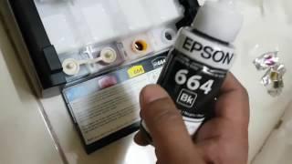 Epson L382 ink Filling