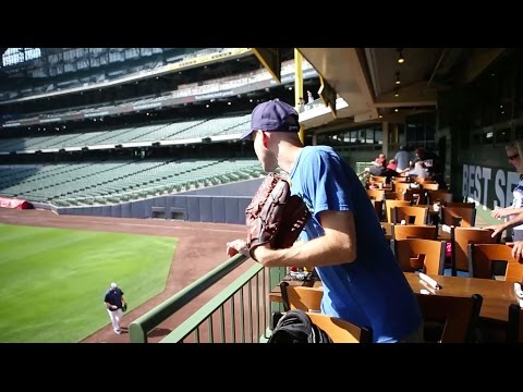 Dominating with the glove trick at Miller Park