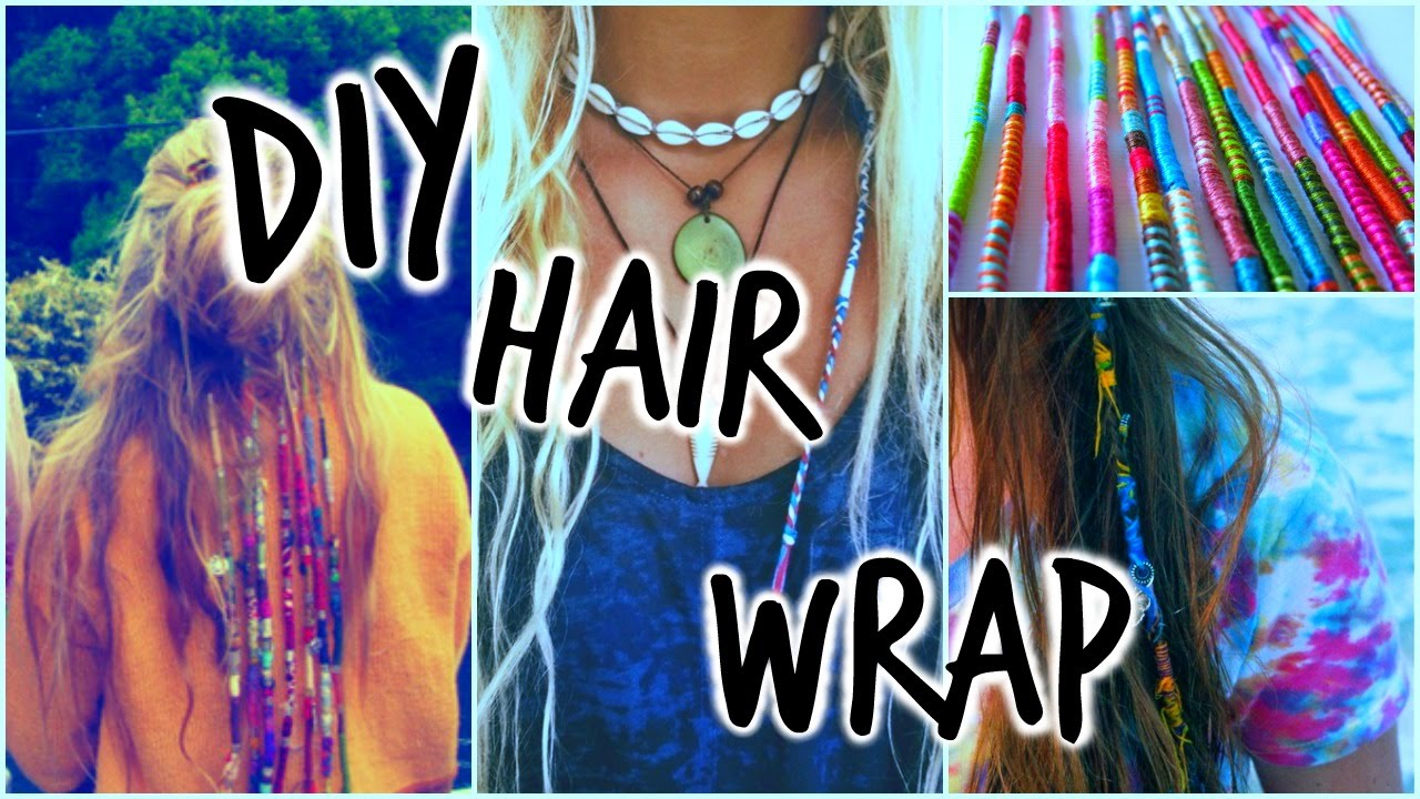 How to do hair wraps with charms — photo 2