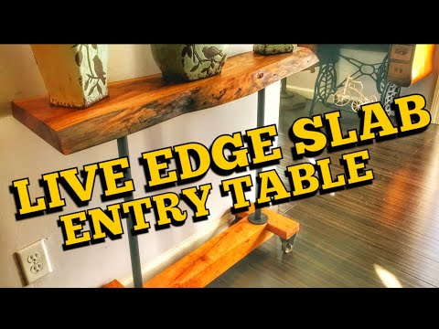 How to Make a Live Edge Entry Table | DIY Woodworking Project