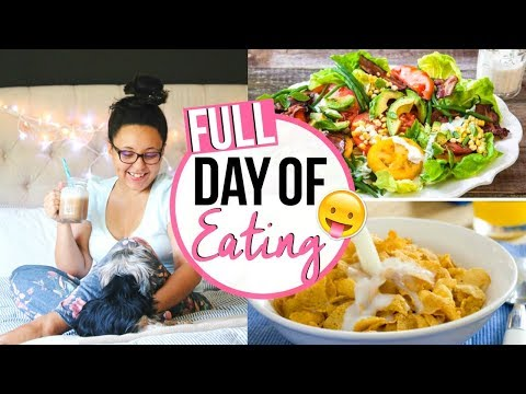 WHAT I EAT IN A DAY 2017 | FULL DAY OF EATING // NOT VEGAN + SOMEWHAT HEALTHY | Page Danielle