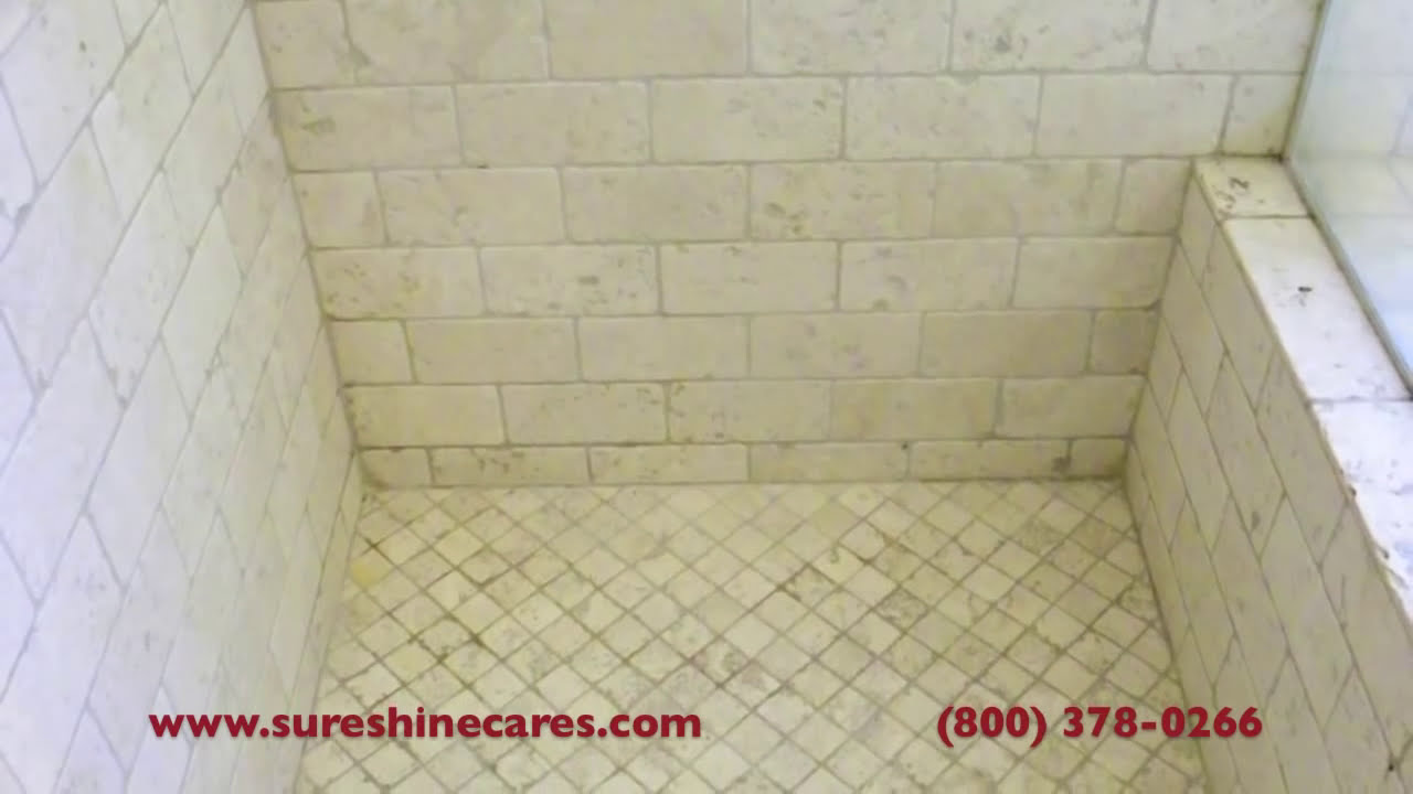 Tumbled Travertine Shower Cleaning Newport Beach You