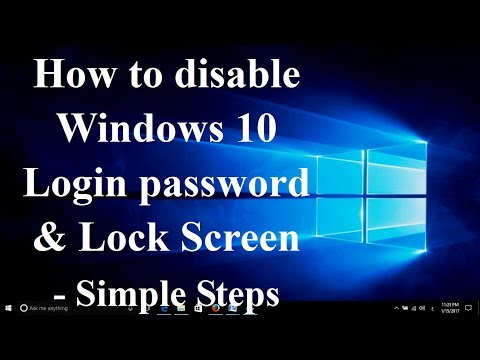 How To Disable Windows 10 Login Password & Lock Screen - Simple Steps