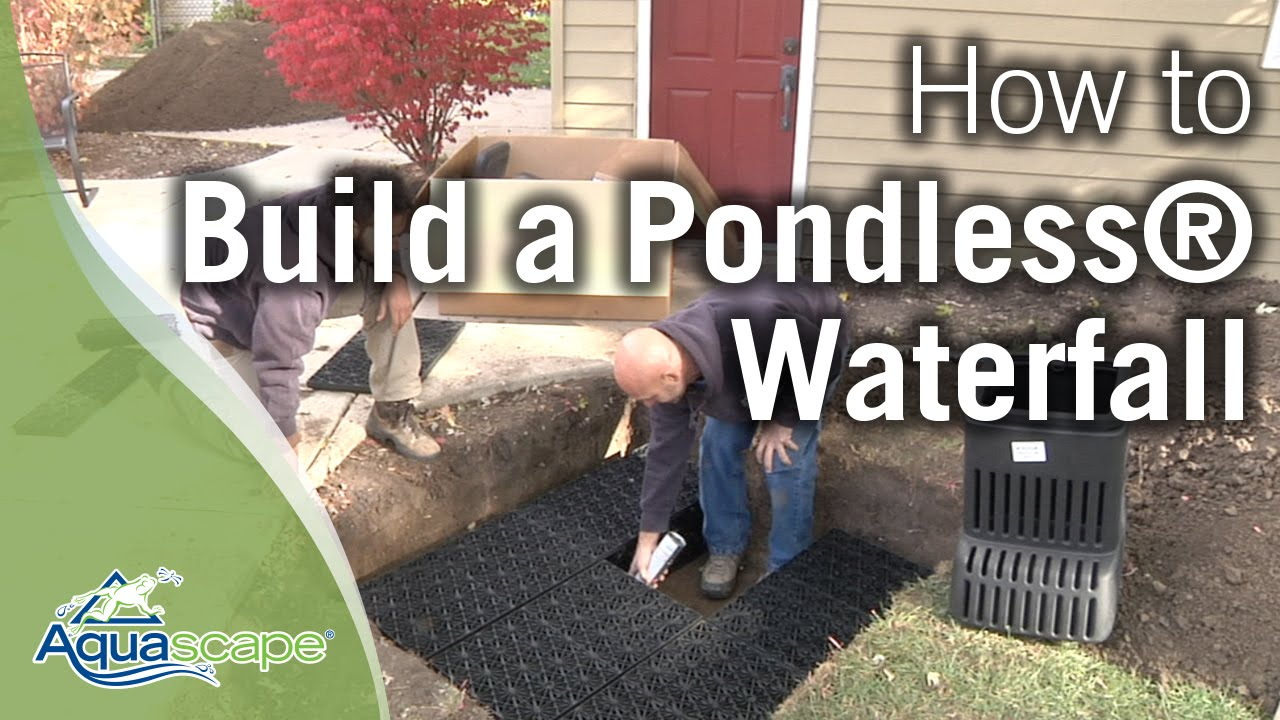Aquascape S New How To Build A Pondless Waterfall Youtube