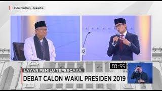 Debat Calon Wakil Presiden Ma'ruf Amin - Sandiaga Uno Soal Kesehatan & Pendidikan