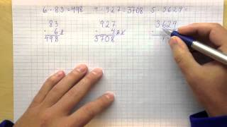Matematik 6 - Multiplikation med en flersiffrig faktor