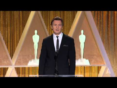 Liam Neeson honors Maureen O'Hara at the 2014 Governors Awards