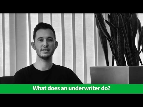 What does an underwriter do?