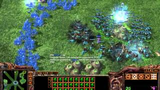 starcraft 2-custom game-4v4 (unlimited units)
