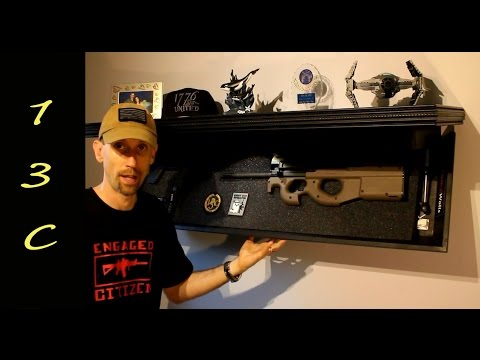 Hidden In Plain Sight Rifle Length Shelf Tactical Walls