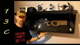 13C discusses discrete firearms storage and takes at look at the Rifle Length Shelf 1242 RLS from Tactical Walls while considering