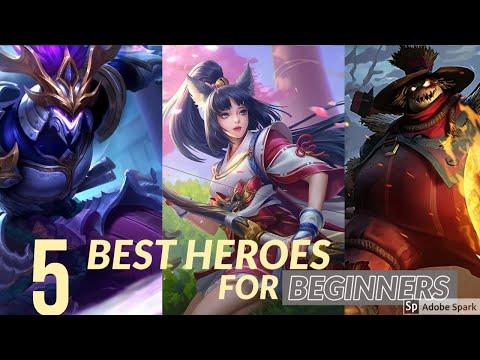 Top 5 Best  Easiest Heroes For Beginners In Mobile Legends