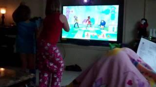 "Katelyn & Lauren: XBox Kinect ""Nickelodeon Dance"" 2"