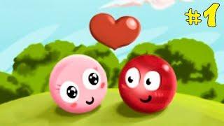 Несносный КРАСНЫЙ ШАРИК спасает любимую #1. Мультик ИГРА Red Ball 3 на Игрули TV