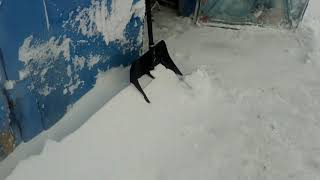 Зима 2018. Лиф в заснеженной Сибири.Nissan Leaf в снегу.