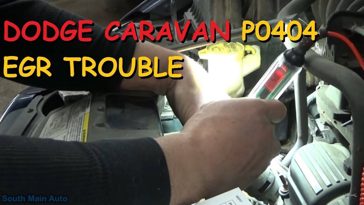 Dodge Caravan Chrysler Town Country Egr Code P0404 Youtube Dakota Wiring Harness Problems
