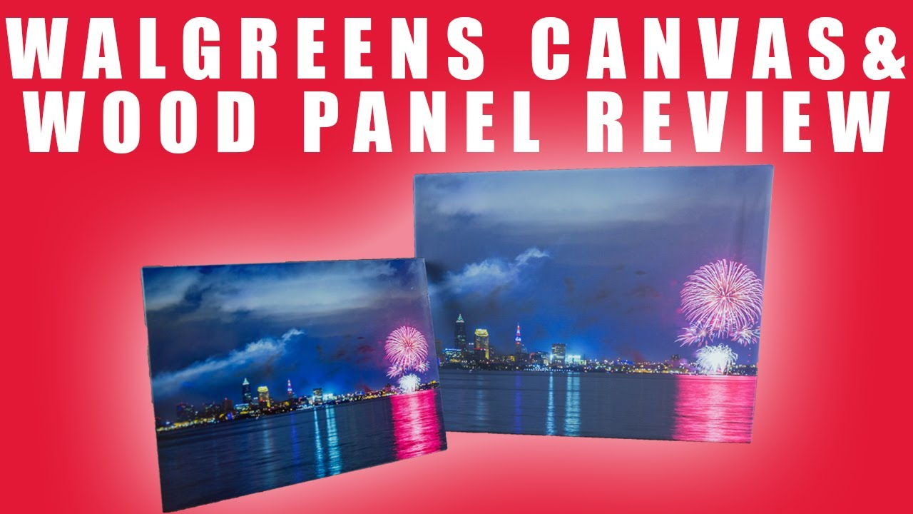 walgreens canvas wood panel prints review 2017 youtube