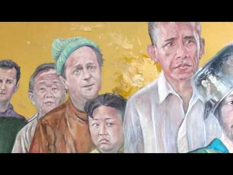 This Syrian artist painted Trump, Merkel and other world leaders as refugees