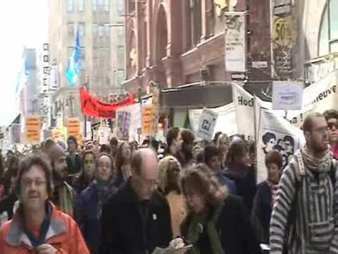 15 000 personnes contre le budget à Montréal
