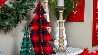 DIY Upholstered Christmas Trees - Home & Family