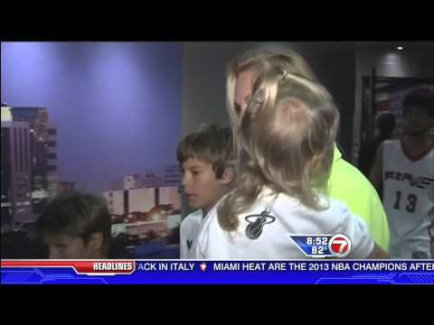 June 20, 2013 - WSVN - Mike Miller's Family Celebrate his Second Championship with the Miami Heat