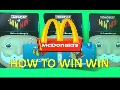 Mcdonalds Win Win Monopoly