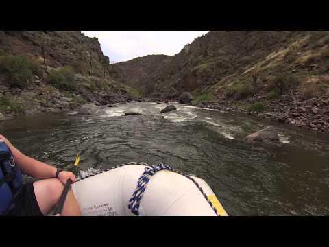 Rapids on Arkansas river in Colorado