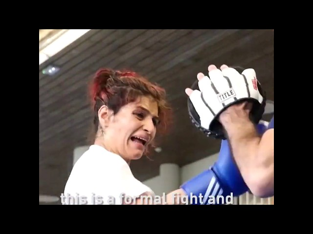 BOXING - Sadaf Khadem : The first female Iranian boxer to box outside of her home country
