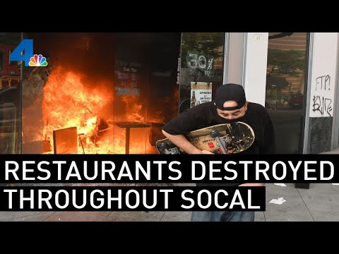 Restaurant Owner Chases Off Looters, Including One She Recognizes, With A Broomstick | NBCLA