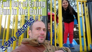 Another 3,500 Calories Full Day of Eating | Fun in the Cold | Workout | Vlog | Bulk Ep. 155