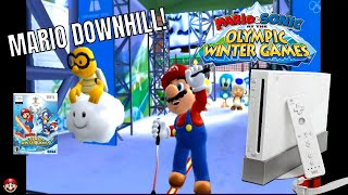 Mario & Sonic At The Winter Olympic Games - Mario Downhill - Nintendo Wii