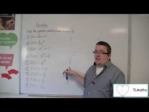 A-Level Maths: B8-03 Functions: Examples of Finding the Domain and Range