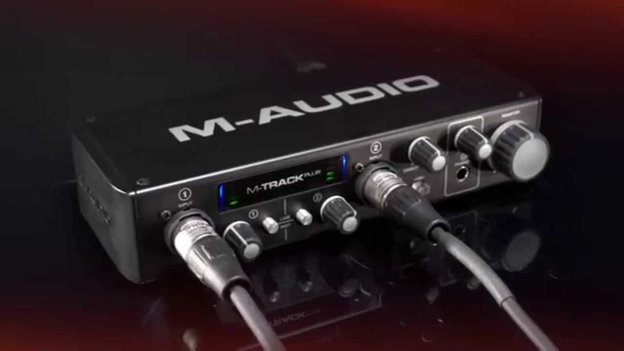 m audio m track plus high resolution usb 2 0 audio interface youtube. Black Bedroom Furniture Sets. Home Design Ideas