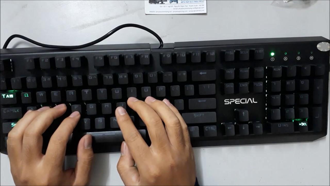 Review Bàn Phím Cơ Lightning Special giá sốc 850k