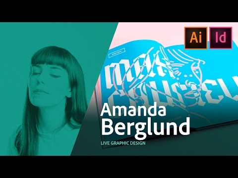 Graphic Design - Amanda Berglund creates a poster live