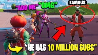 I Pretended Random Players Were Famous YouTubers... It Worked