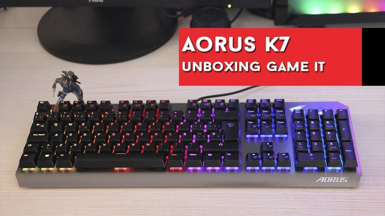 GIGABYTE AORUS K9 Teclado Gaming MEC/ÁNICO RGB