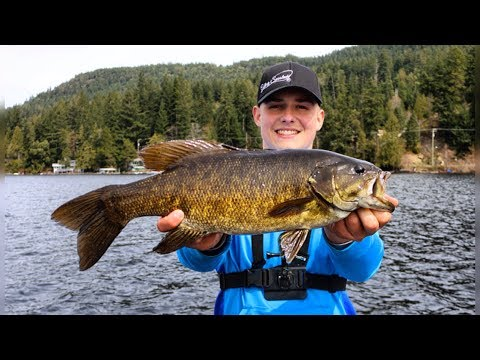 Smallmouth BASS FISHING On VANCOUVER ISLAND