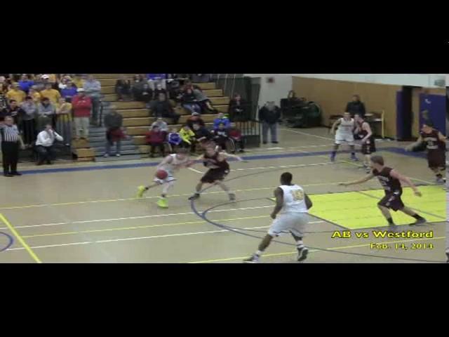 Acton Boxborough Varsity Boys Basketball vs Westford 2/14/14