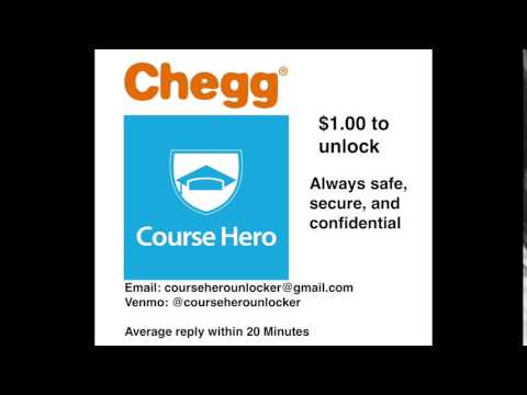 Course Hero and Chegg Unlock $1 Fast and Easy - YouTube