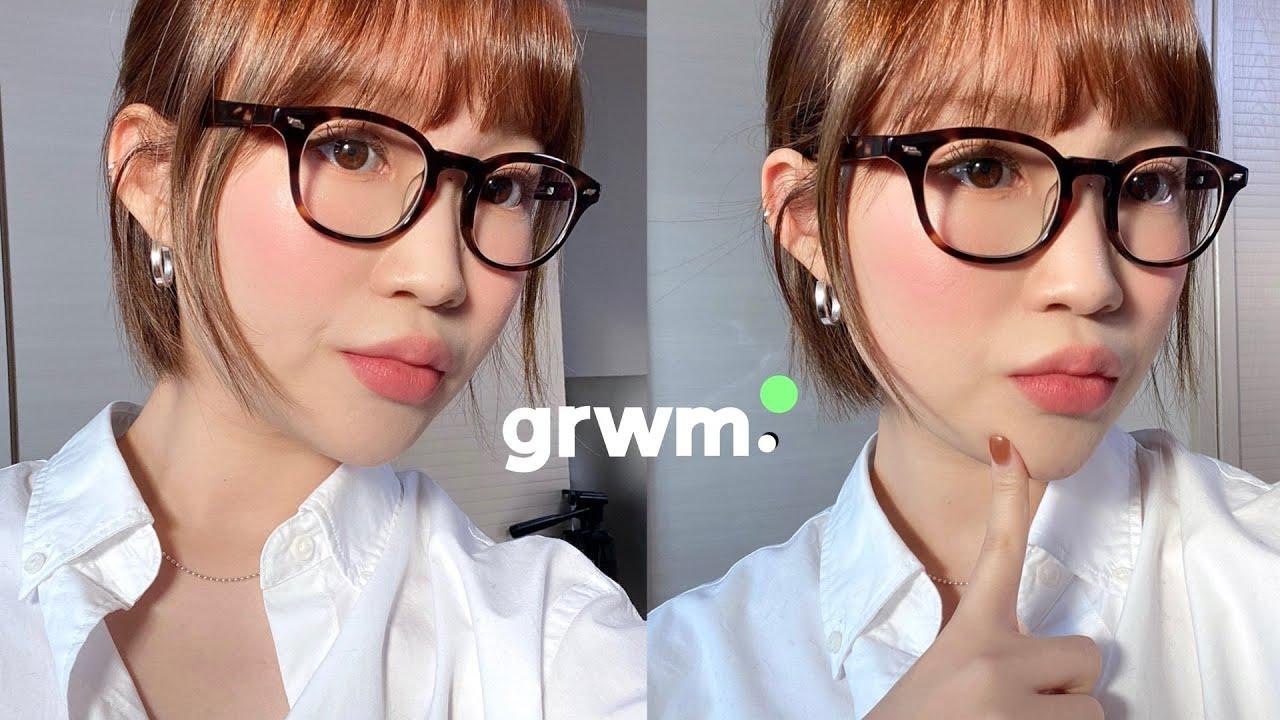grwm 꾸안꾸 데일리 안경 메이크업 & 심플 #데일리룩 모나미룩 | 지혜사랑JIHYESARANG