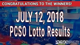 PCSO Lotto Results Today July 12, 2018 (6/49, 6/42, 6D, Swertres, STL & EZ2)