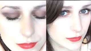 ❀A twist on the subtle purple smokey eye, with red glossy lips ❀