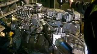 Бірінші іске қосу Detroit Diesel 53. Қозғалтқышты сыннан өткізу күрделі жөндеуден кейін