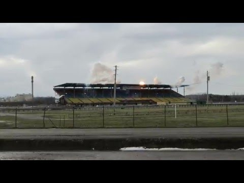 New York State Fairgrounds Grandstand being Imploded 1-9-16
