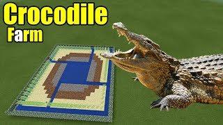 How to Make a Crocodile Farm | Minecraft PE thumbnail