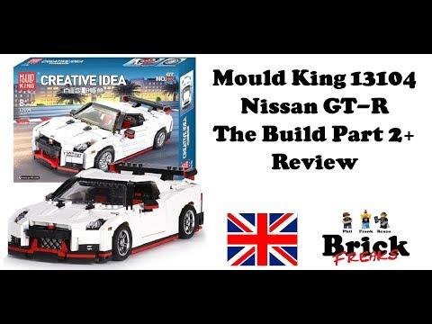 Mould King 13104 - Nissan GT-R - The Build Part 2 + Review