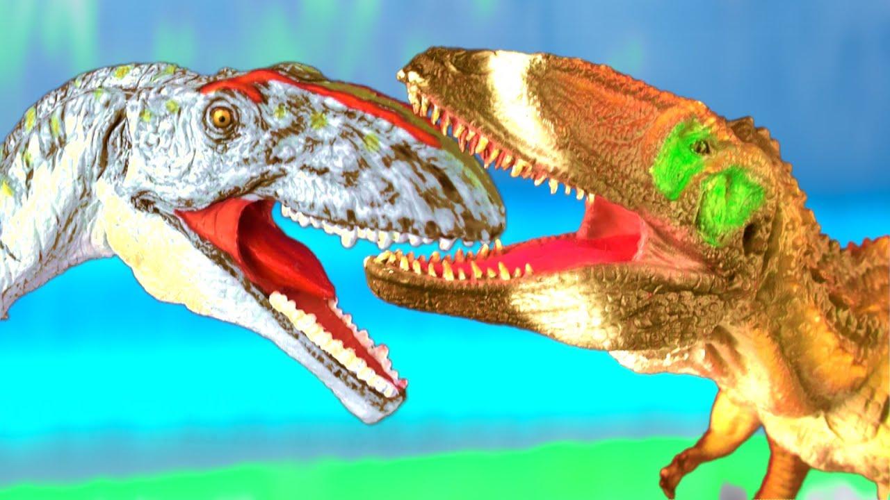 Dinosaur Fight GIGANOTOSAURUS vs CARCHARODONTOSAURUS